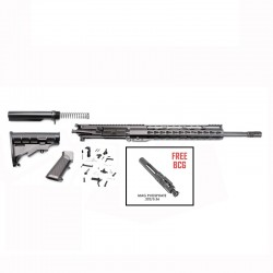 "AR-15 Rifle Build Kit with LPK  & 12"" Super Slim Light Keymod Quad Rail FREE BCG"